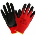 12 Paar Arbeitshandschuhe Handschuhe Garten EN420 Kat I rot-schwarz Urgent 1003