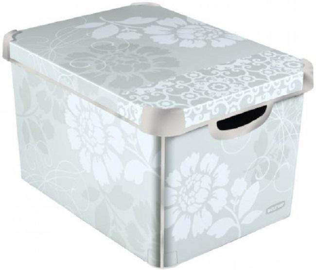 curver deco box storage box l romance deco 39 s stockholm l 188163. Black Bedroom Furniture Sets. Home Design Ideas