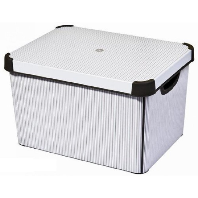 curver deco box storage box l classico 188166. Black Bedroom Furniture Sets. Home Design Ideas