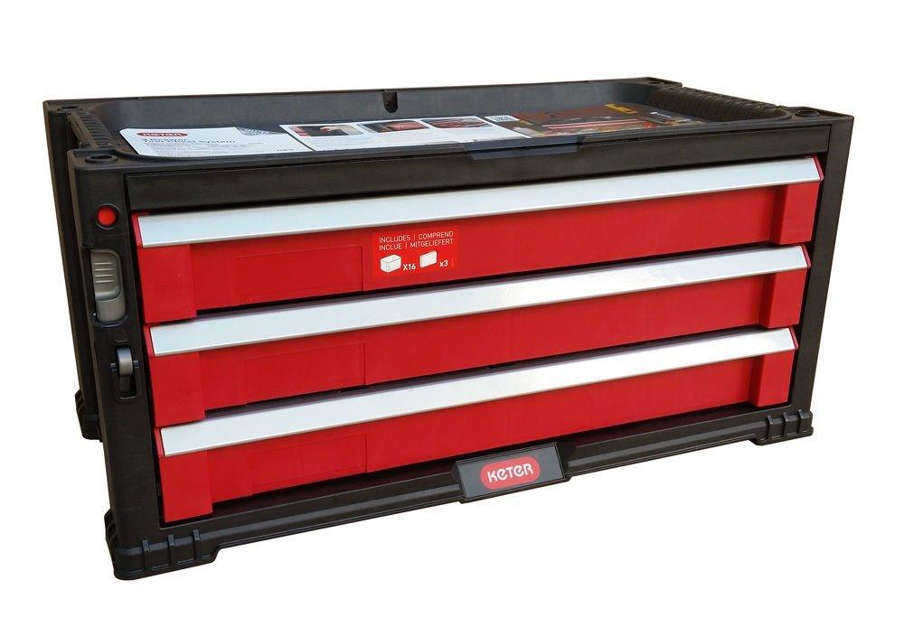 5 drawer tool chest system tool organizer box toolbox keter 220448 ebay. Black Bedroom Furniture Sets. Home Design Ideas