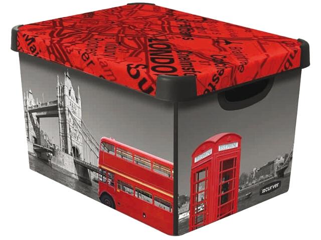curver decorative plastic storage box with cover lid. Black Bedroom Furniture Sets. Home Design Ideas