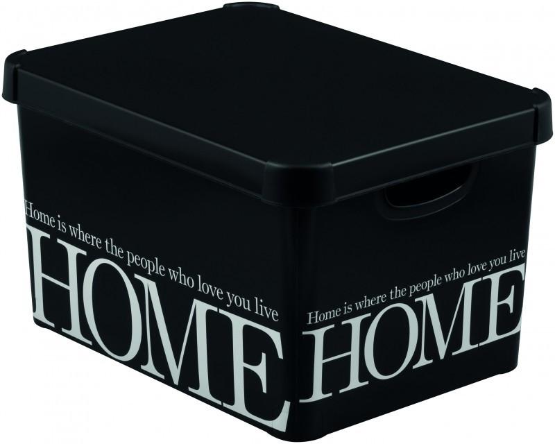 curver decorative plastic storage box with cover lid deco. Black Bedroom Furniture Sets. Home Design Ideas