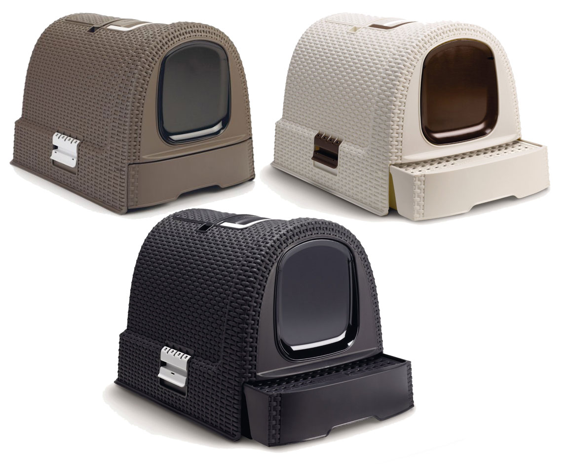 curver petlife katzen toilette katzentoilette haubentoilette katzenklo rattan ebay. Black Bedroom Furniture Sets. Home Design Ideas