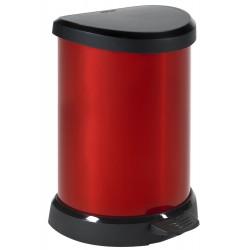 """Curver 02120 """"Metallic's"""" Abfallbehälter 20 Liter, metallic-rot"""